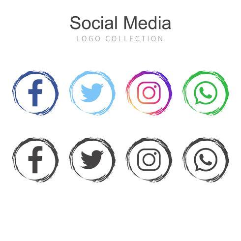 Beliebte Social Media-Logosammlung vektor