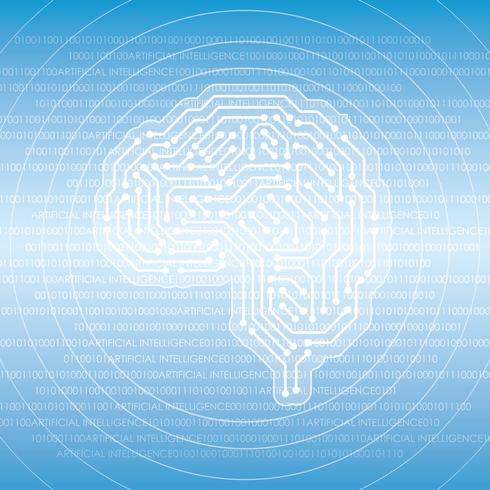 Konstgjord intelligens koncept illustration. vektor