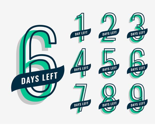 bevorstehendes Event-Marketing-Banner mit Anzahl der verbleibenden Tage