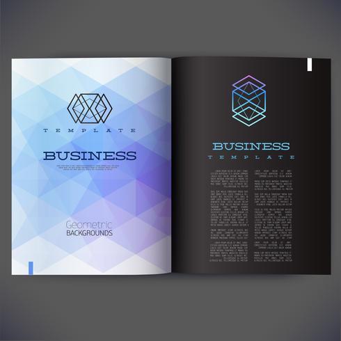 Abstract vectormalplaatjeontwerp voor de pagina's van het tijdschrift, brochure, pagina, pamflet