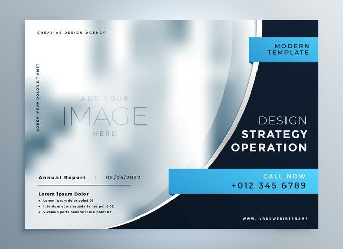professioneel blauw bedrijfsbrochure presentatieontwerp