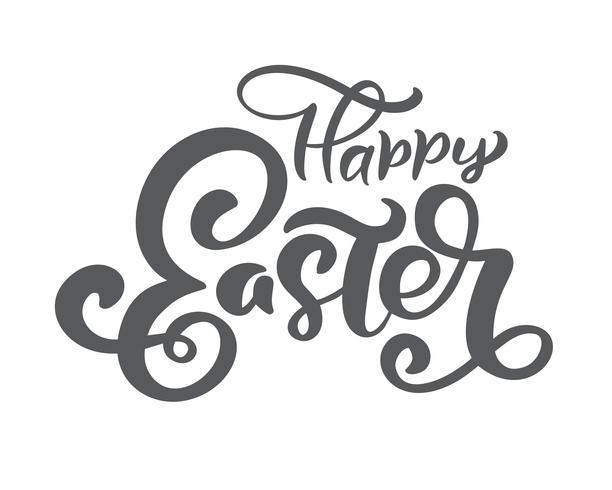 """Hand getekend """"happy Easter"""" kalligrafie belettering"""