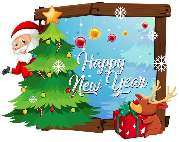 Happy new year template vector