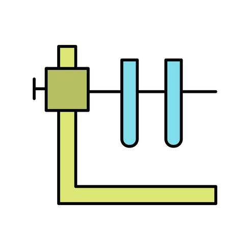 Rohr zwei mit Stand-Vektor-Ikone