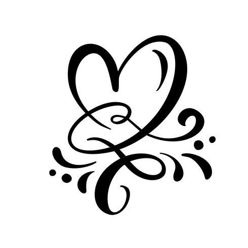 Heart love sign Vector illustration
