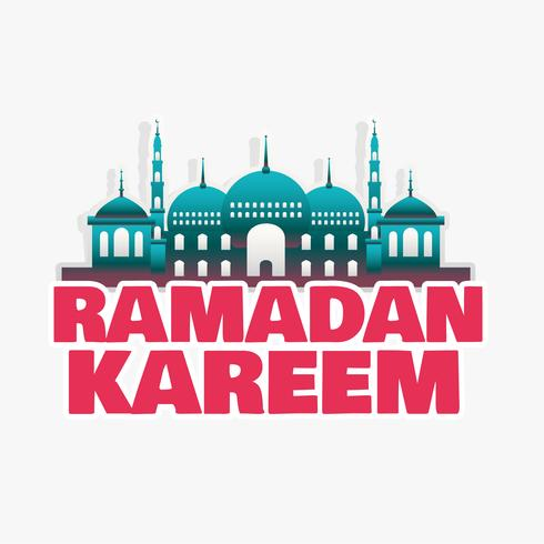 ramadan kareem mosque background design
