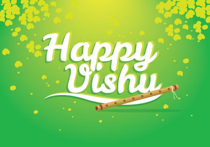 Glad Vishu hälsningar Design