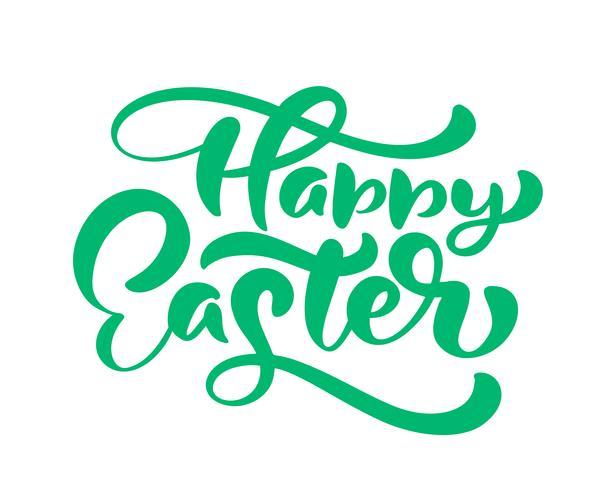 "Groene ""Happy Easter"" handgeschreven letters"