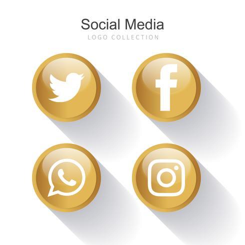 Social Media logo collection vector