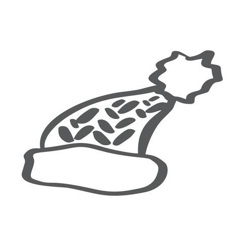 Wintermütze mit linearem Symbol Pom Pom. Dünne Linie Abbildung. Skikappen-Kontur-Symbol. Vektor isolierte Umrisszeichnung