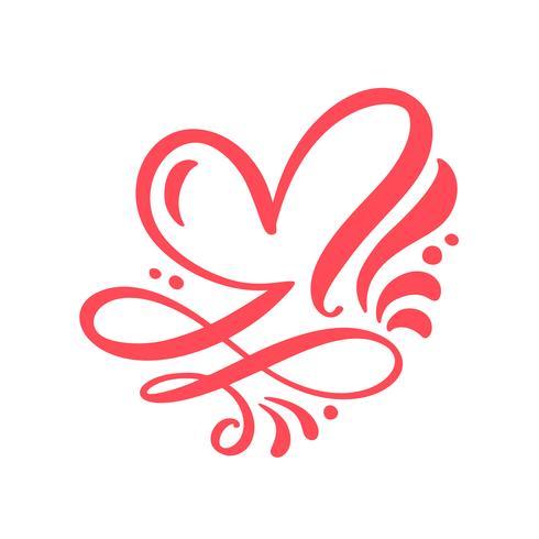 Signe d'amour coeur illustration vectorielle
