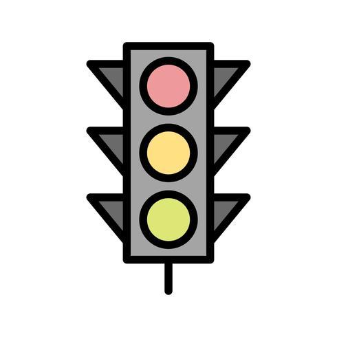 Vector de señales de luz icono