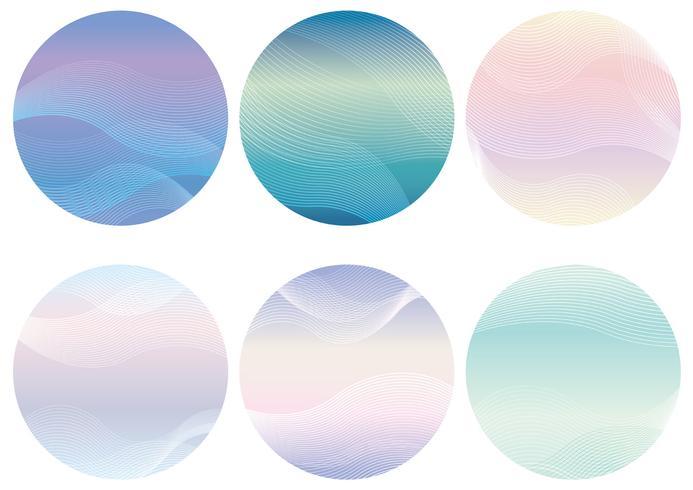 Conjunto de fundo redondo com padrões ondulados.