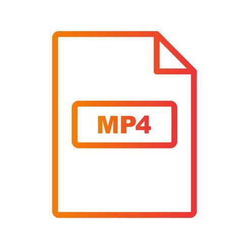 Ícone de vetor MP4