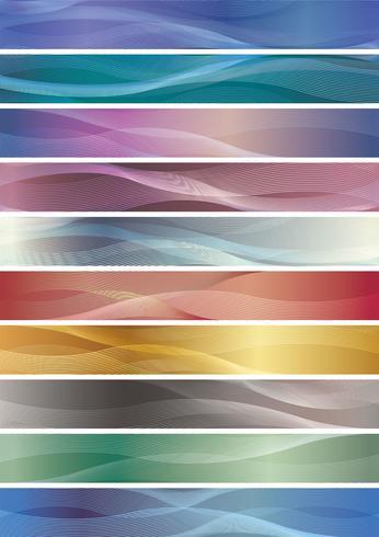 Wavy pattern banner set.