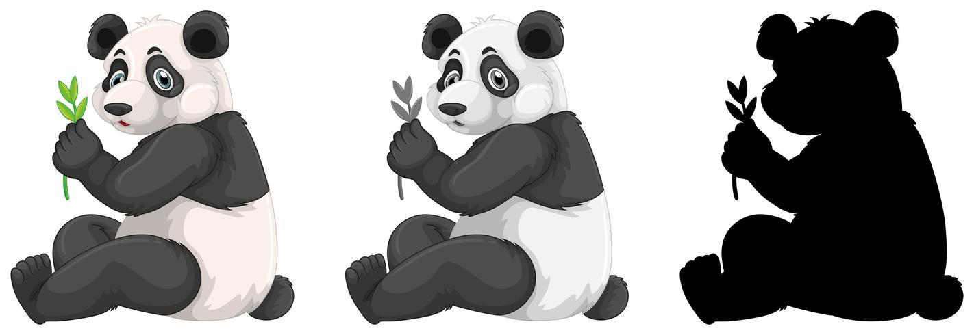 Ensemble de personnage de panda