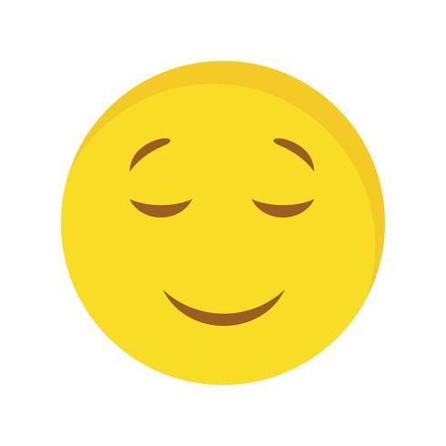 Calmo Emoji Vector Icon