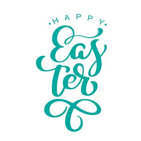 """""""Buona Pasqua"""" Disegnata a mano calligrafia e pennarello lettering"""