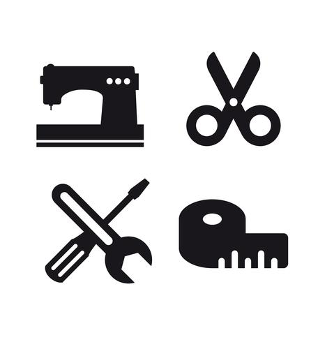Ideia de negócio de logotipo de ofício. Ferramenta de design