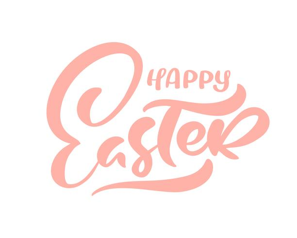 Calligraphic Happy Easter text vector