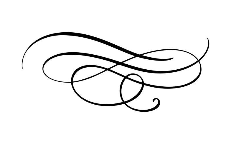 Elegante vintage divider, swirl of hoek floreren