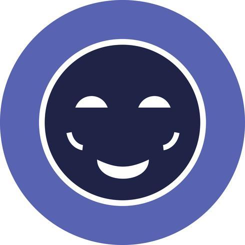 icono de vector de emoji de rubor