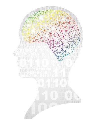 Illustration de concept d'intelligence artificielle.