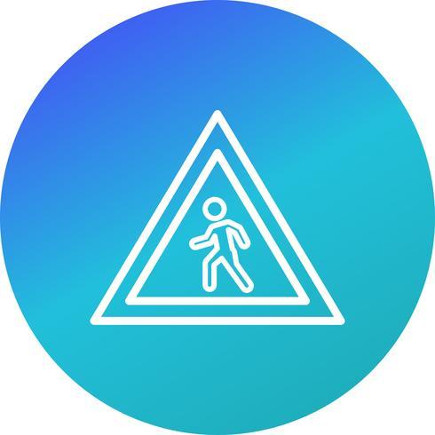 Vektor-Fußgängerüberweg-Symbol