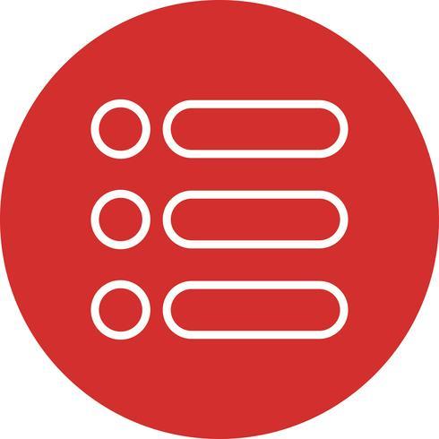 Icono de lista de vectores