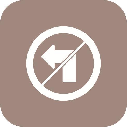 Vektor Ingen vänster vänd ikon