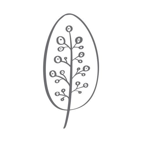 Silueta del icono del vector del árbol de navidad. Símbolo de contorno simple. Aislado en blanco web sign kit de abeto estilizado. Handdraw imagen de dibujos animados escandinavos