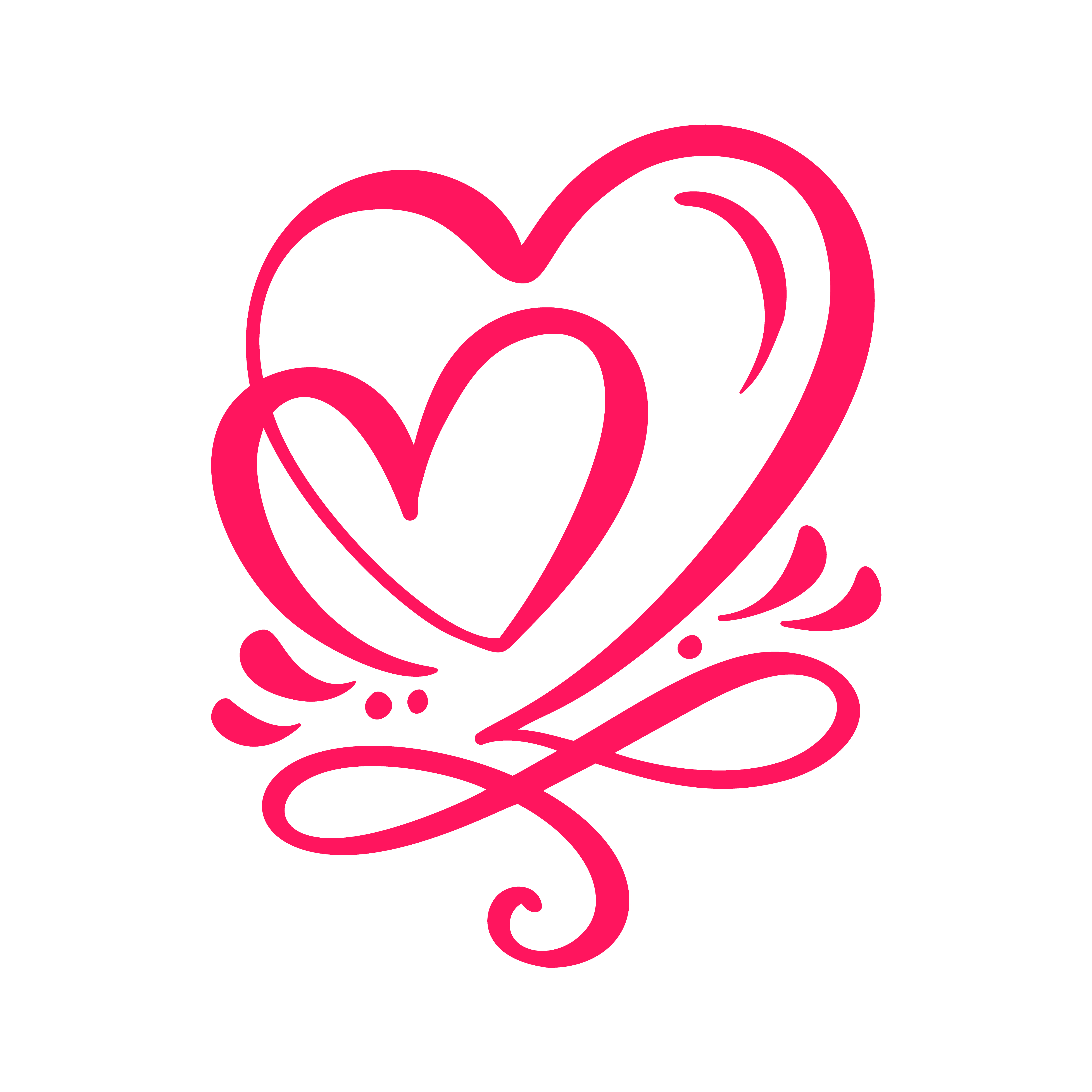 Two lover calligraphic hearts 375884 - Download Free ... (5001 x 5001 Pixel)