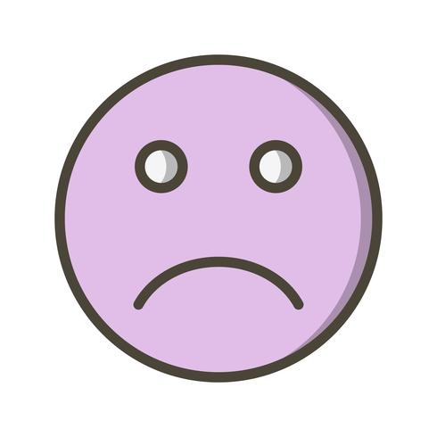 Sad Emoji Vector Icon