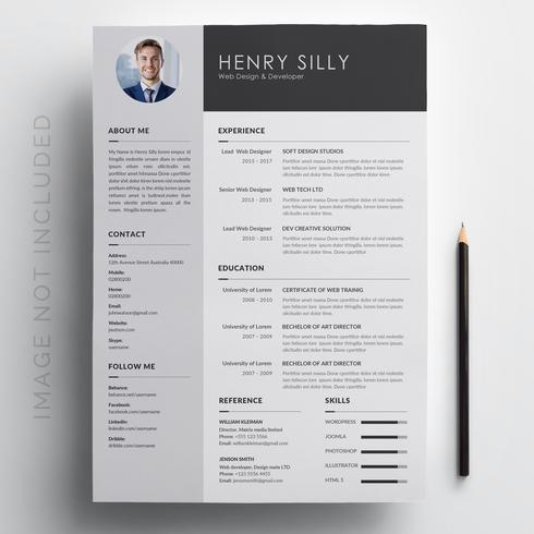 black-and-white-resume-template-vector Template Cover Letter Job Free Black Elegant Resume Cv Design Ukzwbd on