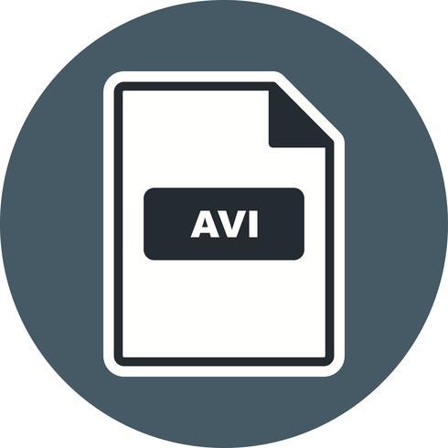 Icona di vettore AVI
