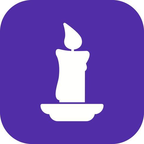 Icona di vettore di candela