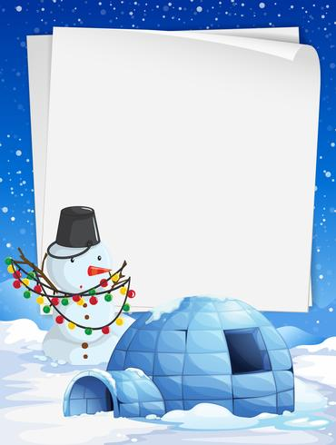 Blank paper with Christmas theme background vector
