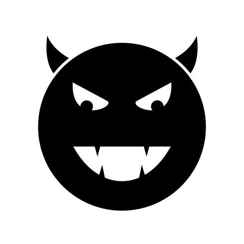 Diable, emoji, vecteur, icône