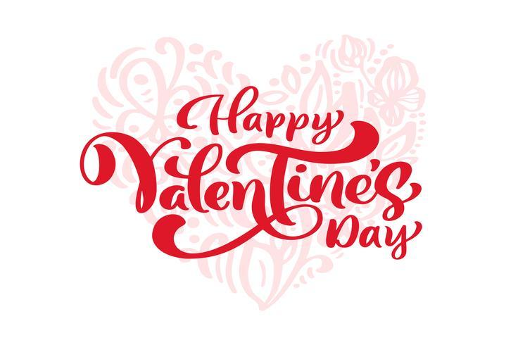 Frase De Caligrafía Quotfeliz Día De San Valentínquot