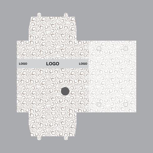 Caja de plantilla de diseño de embalaje