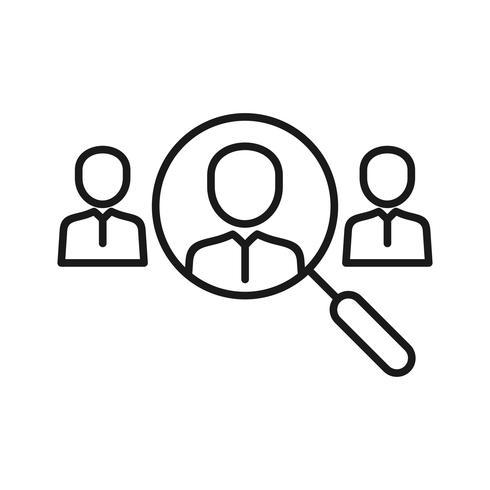 Icone della linea SEO di ricerca organica