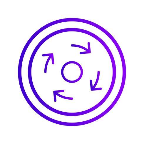 Vektor Obligatorisk rondell Ikon