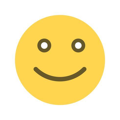 Heureux Emoticon Vector Icon Telecharger Vectoriel Gratuit