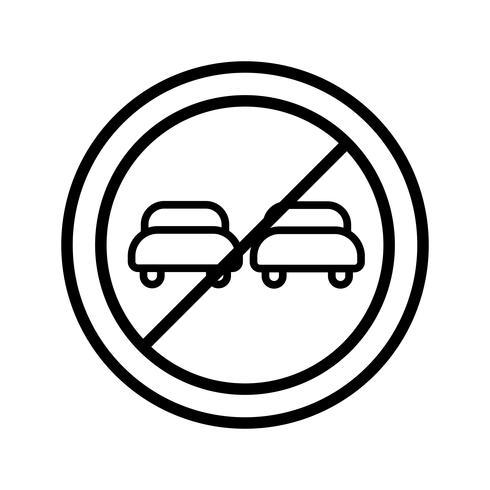 Vektor Überholverbot Symbol