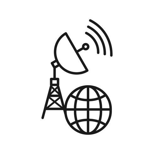Icônes de ligne Global Connection SEO vecteur