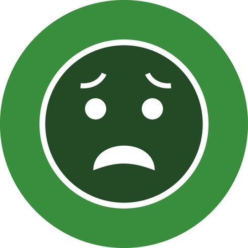 Icona di vettore Emoji spaventato