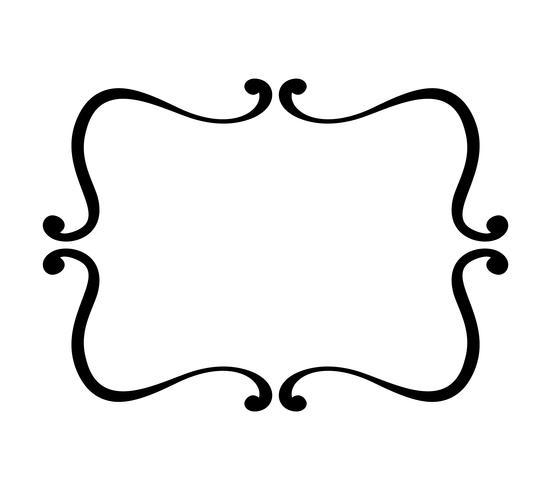 florecer vintage vector marco