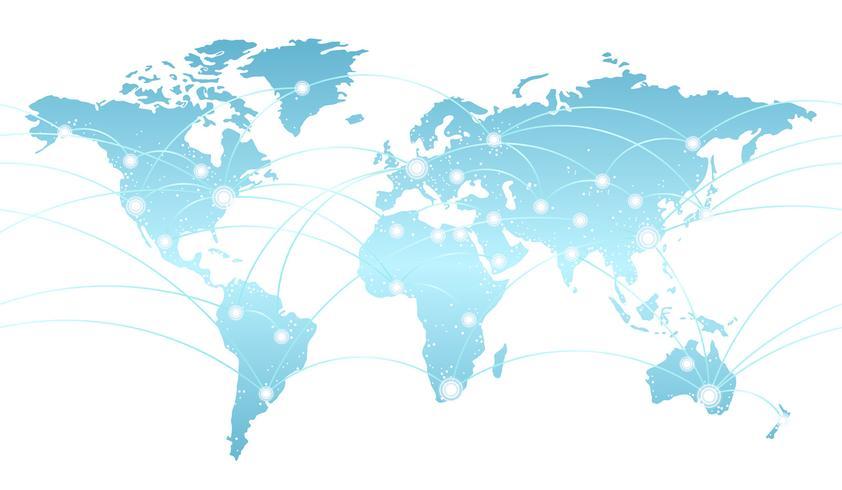 Carte transparente du système de réseau mondial.