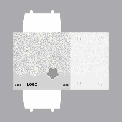 Modelo de design de embalagem de caixa