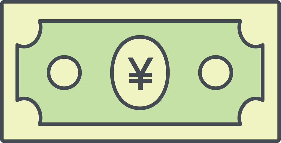 icono de vector de yen